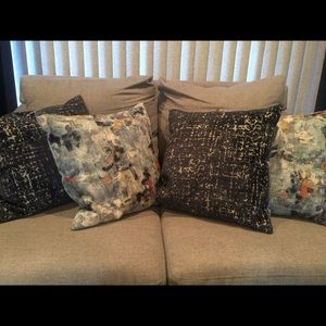 West Elm pillow covers. 2 light blue only!